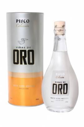 Viñas de Oro Pisco Mosto Verde Moscatel / peruanischer Pisco Flasche 500 ml Abgabe nur ab 18 Jahre ! - Bild vergrößern